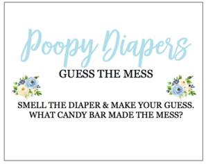 Poopy Diapers Fun Baby Shower Games