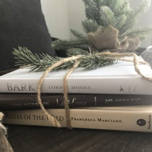 stacked book decor