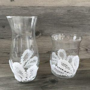 DIY doily vase