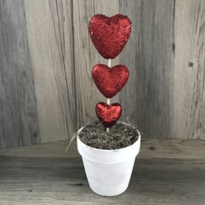 red heart topiary