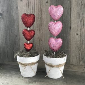 adorable DIY heart topiaries