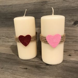 valentines day candle decor