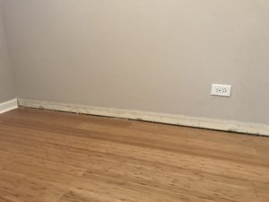 wall with no baseboard